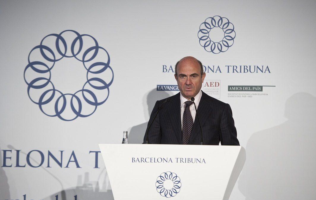 Barcelona Tribuna amb Luis de Guindos