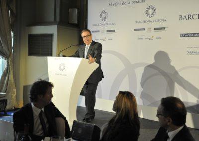 Josep Cuní presenta Alicia Sánchez-Camacho a Barcelona Tribuna