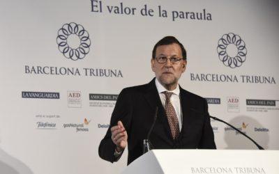 Barcelona Tribuna con Mariano Rajoy