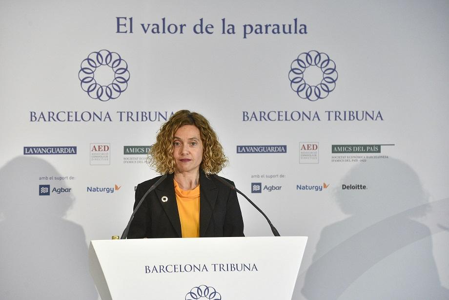 Barcelona Tribuna con Meritxell Batet