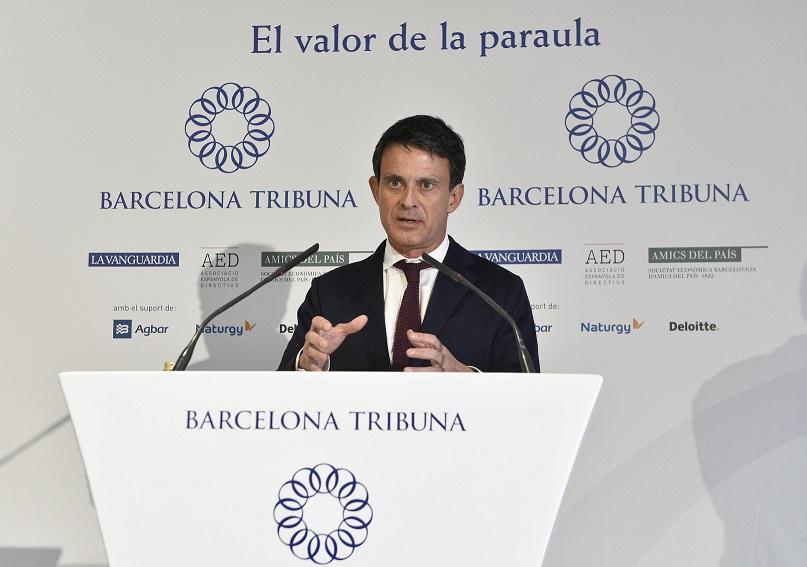 Barcelona Tribuna con Manuel Valls